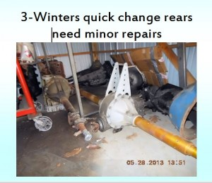 3 winters quick change rears