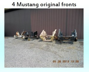 4 mustang fronts