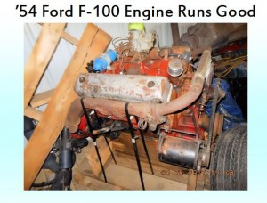 54 ford f100 engine runs good