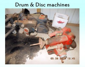 drum and disc machine