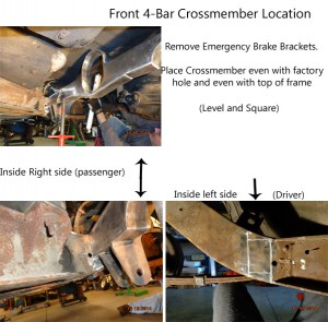 front 4 bar crossmember location